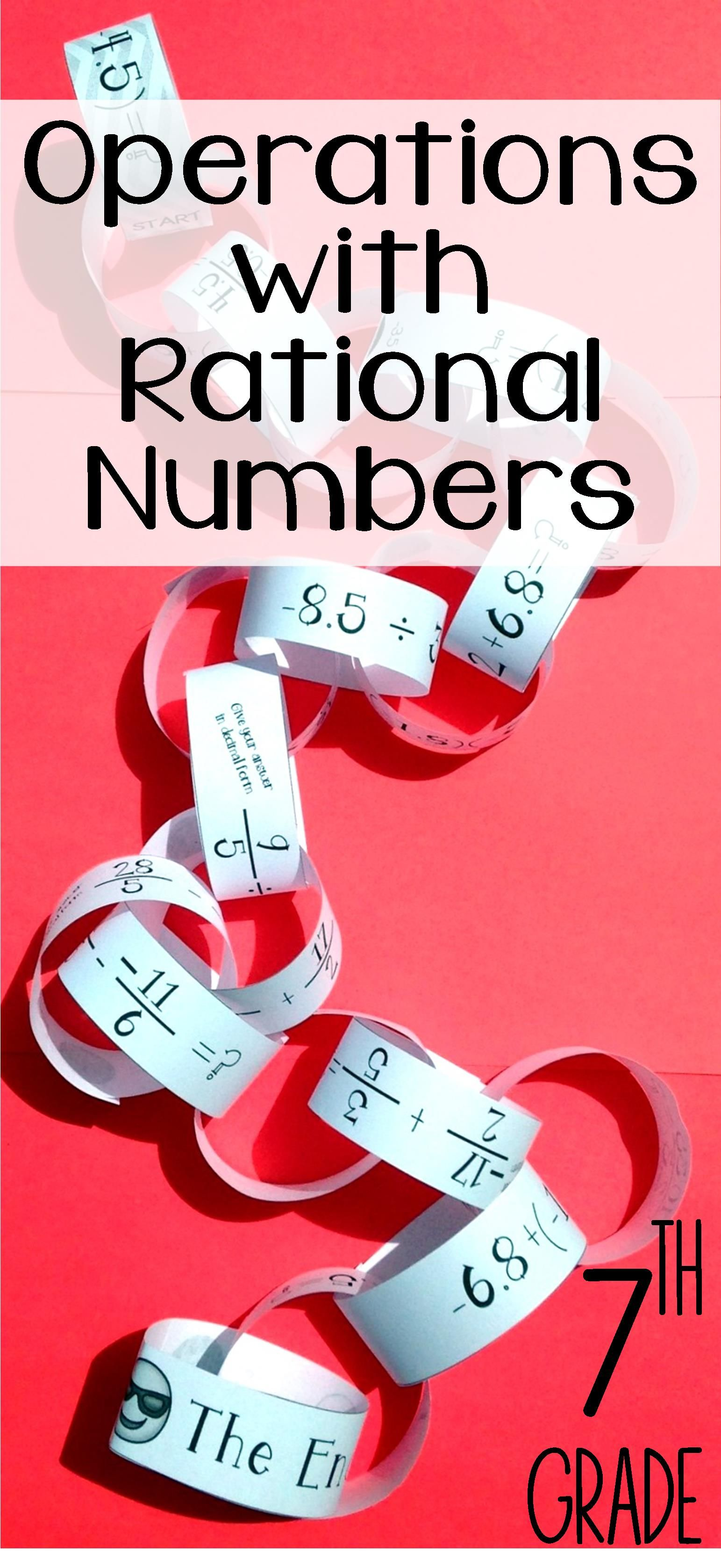 This Operations With Rational Numbers Paper Chain Activity Was The