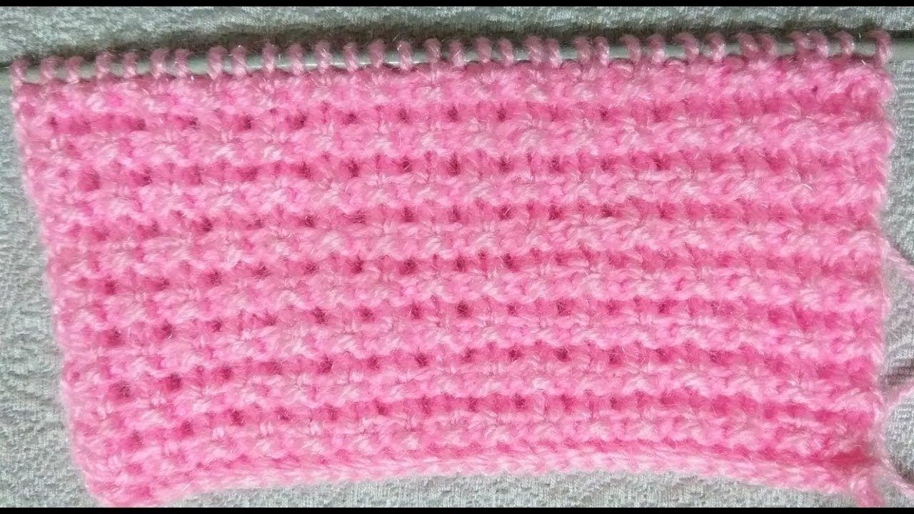 Easy Single Color Knitting Pattern No.46 Hindi   ÖRNEK ÖRGÜLER ...