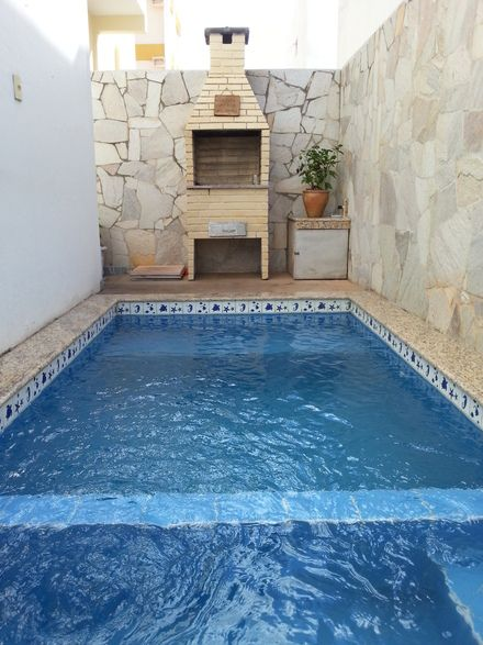 Rea de lazer simples dec pinterest piscinas for Piletas economicas
