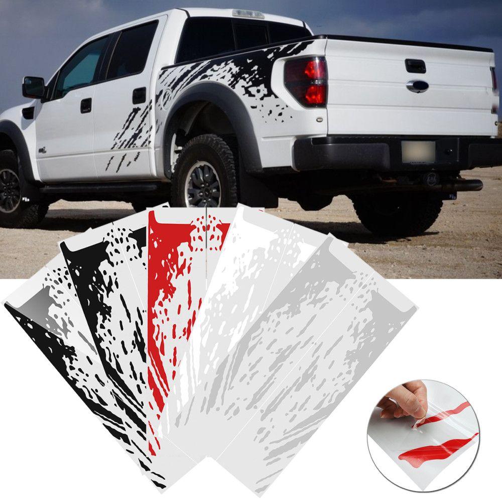 Car Side Bed Mud Splash Kit Stickers Eflashy Ford Raptor Vinyl Sticker Splash [ 1000 x 1000 Pixel ]