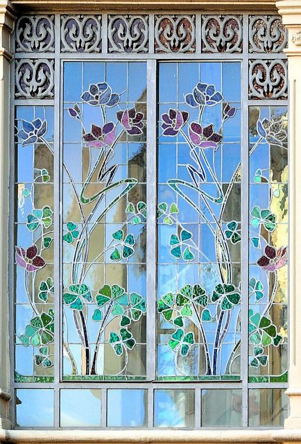 Barcelona Sants 149 G Stained Glass Art Vintage Art Glass Stained Glass