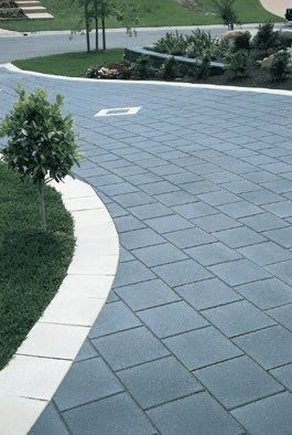Paver Edging Or Solid Edge Of Concrete Or Other Around A