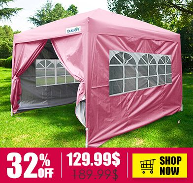 Qucitent 4season Standard 10 X 10 Pop Up Canopy Hot Pink Party Tent Canopy Gazebo