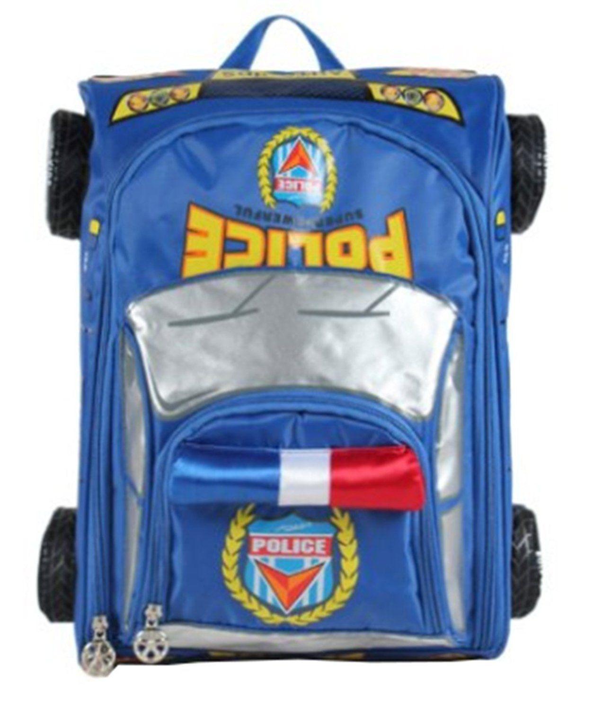 Yonger Cute 3d Police Car Modeling School Bag Schoolbag Backpacks For Kids Details