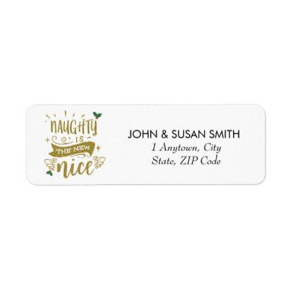 Merry Christmas holiday fun return address labels - Xmascards