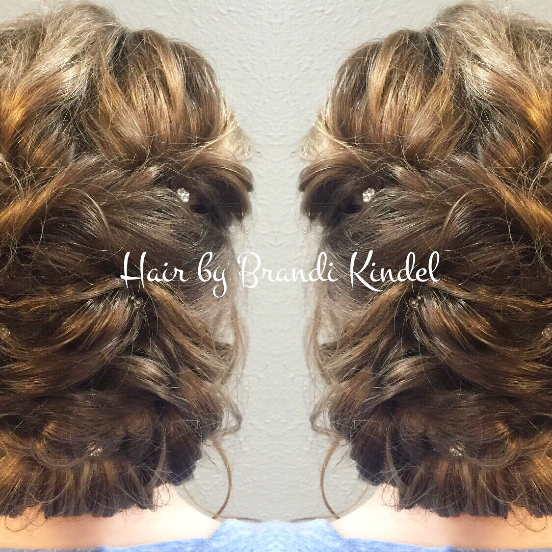 So happy Princess Paige asked me to do her hair for her senior prom!  Her inspiration photo was very organic and soft so that is what I gave her!   Beautiful hair for a beautiful young lady