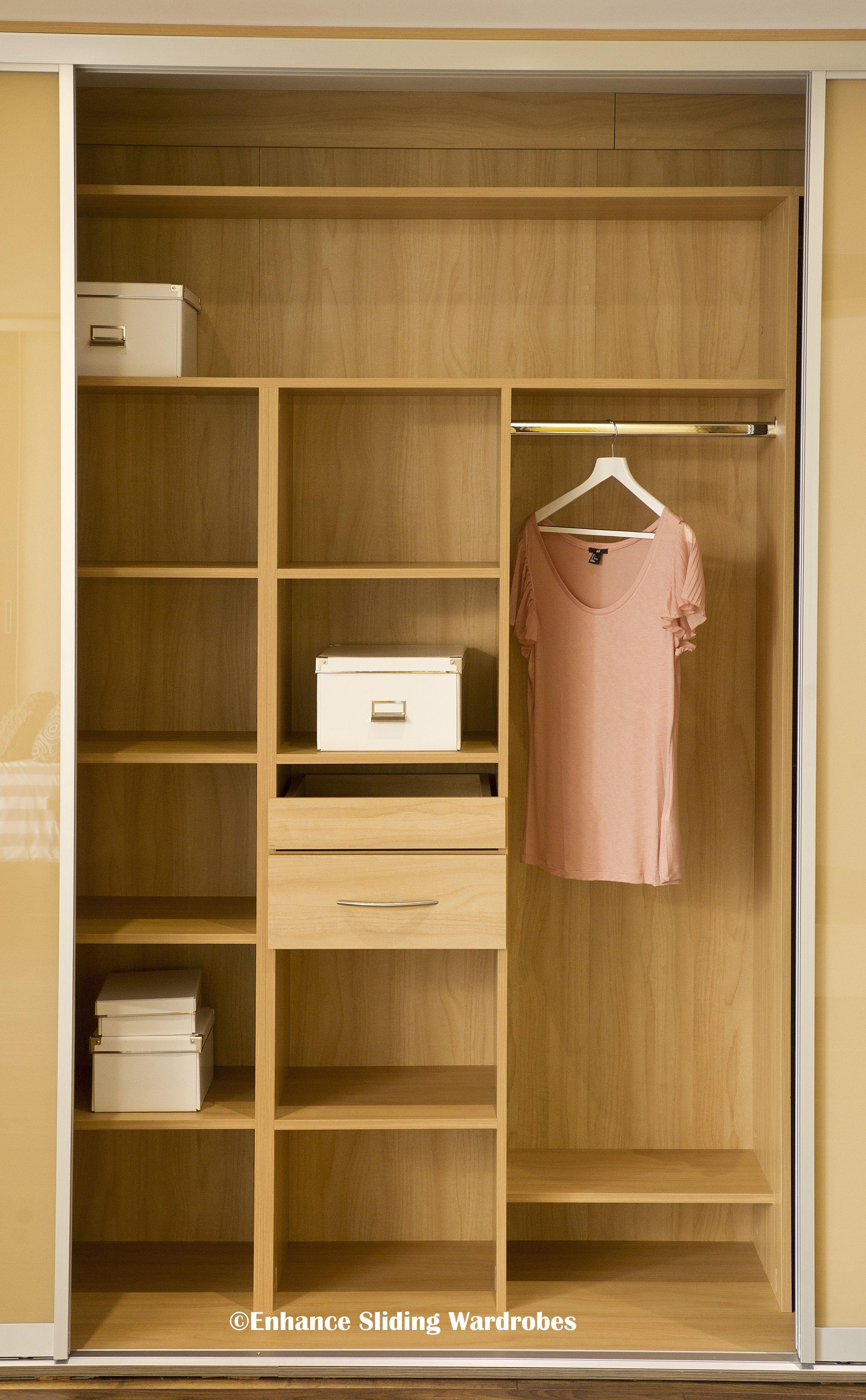 Oak interiors for fitted wardrobe closet storage - Wardrobe interior designs for bedroom ...