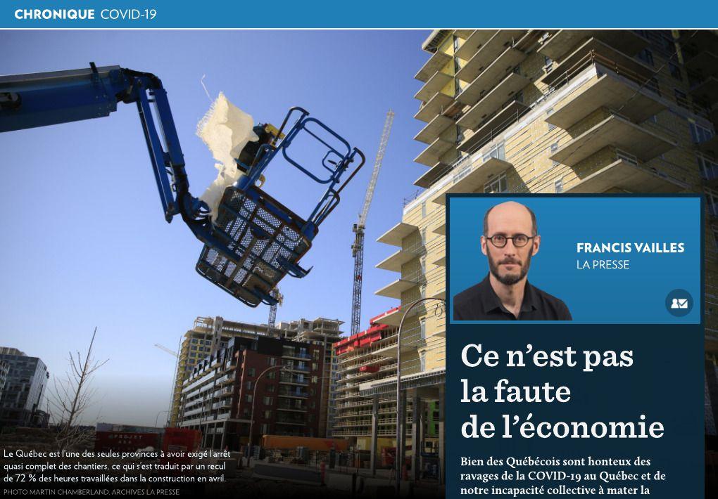 Ce n'est pas la faute de l'économie La Presse+ in 2020
