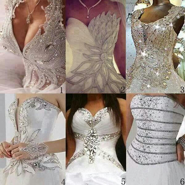 Blinged Out Wedding Dress Tops