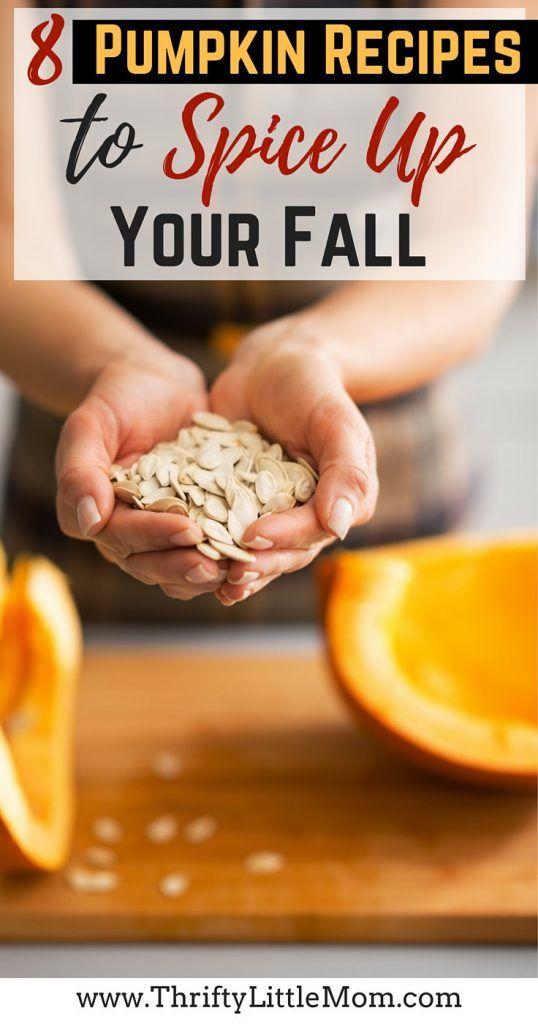 8 Pumpkin Recipes to Spice Up Your Fall! These include healthy recipes, easy pumpkin recipes, pumpkin cooking tips and more!  If you love fall and want more ideas for how to enjoy it with your kids one on one this year- this post has some tasty ideas!