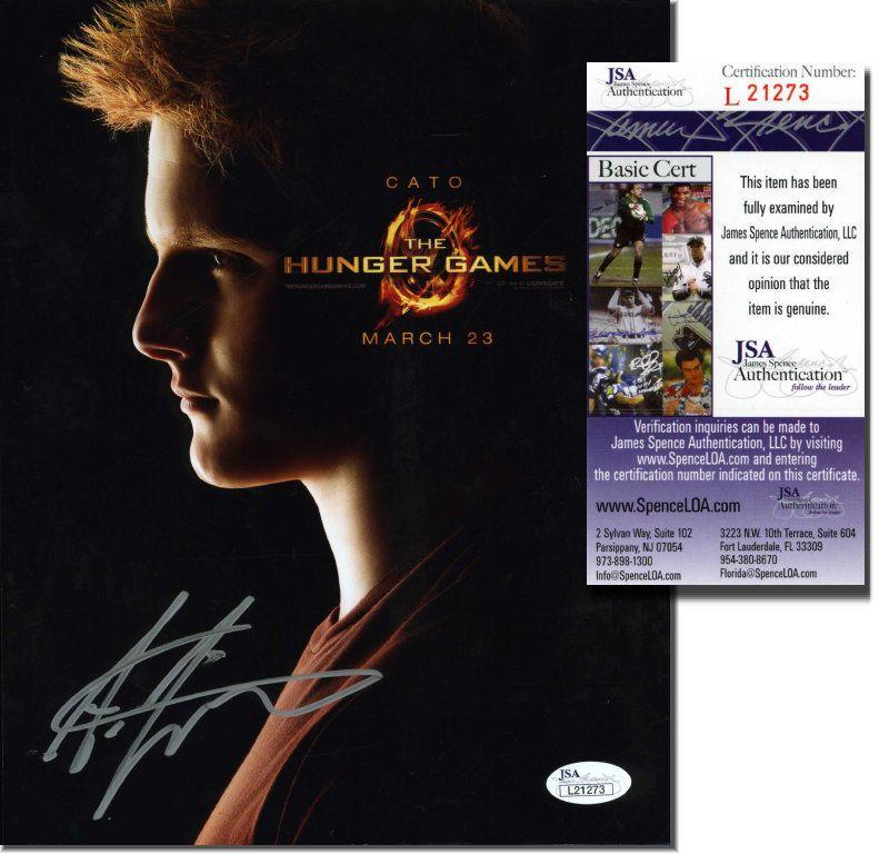 Alexander Ludwig The Hunger Games Hand Signed 8x10 Jsa Coa