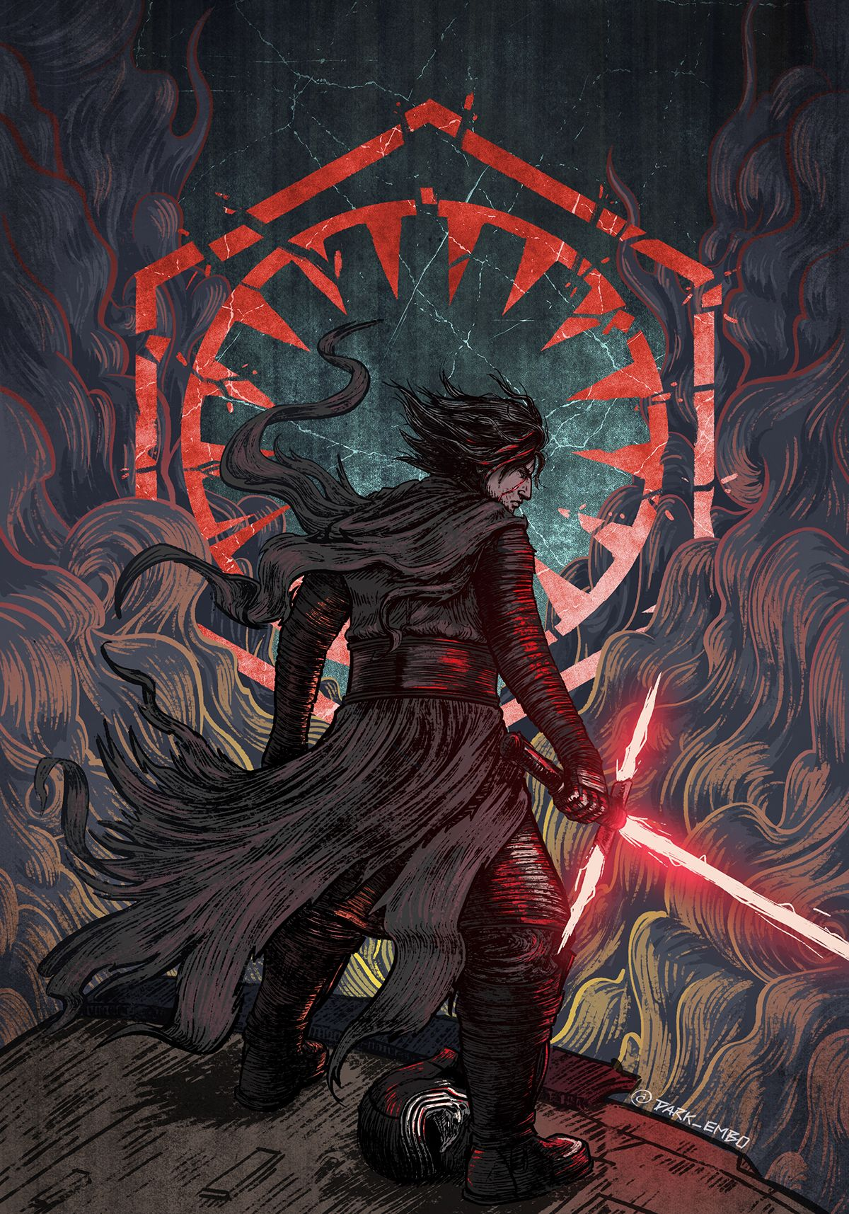 Kylo Ren Star Wars The Last Jedi Starwars Starwarsart