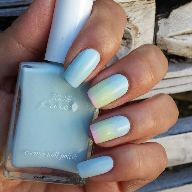 100 Pure On Instagram Check Out This Ombre Easter Notd By Angelica Of Suedenails This Easter Ombre Of Our 10f Cruelty Free Nail Polish Nail Polish Nails