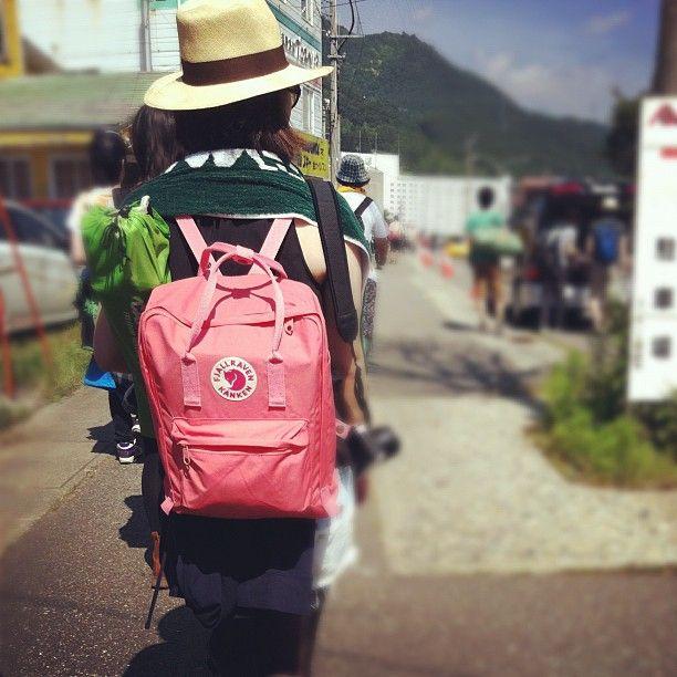 fjällräven backpack kanken peach pink