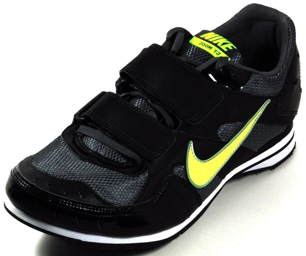 2ce9770e0ab7 Nike Zoom TJ Triple Jump Track Spikes Size 9.5 Black Gray Volt Green  Nike   TJTripleJumpTrackSpikes