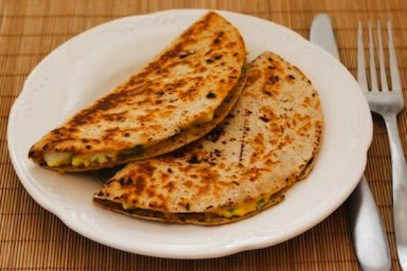 Quick & easy egg quesadilla!  The yummiest of yummy!!  :)