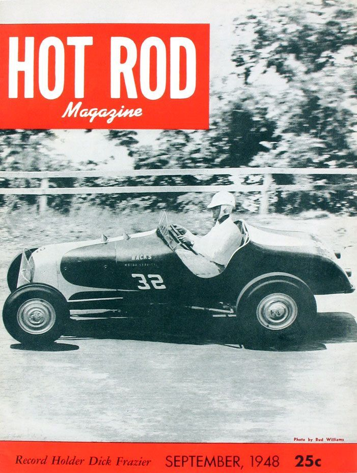 HOT ROD, September 1948. See all HOT ROD covers at http://www.hotrod ...