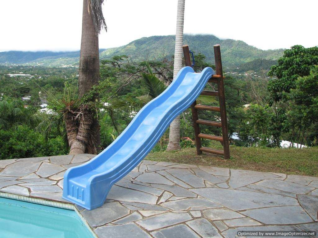 Platform with pool slide blue3 in 2019 diy for Slide design outlet