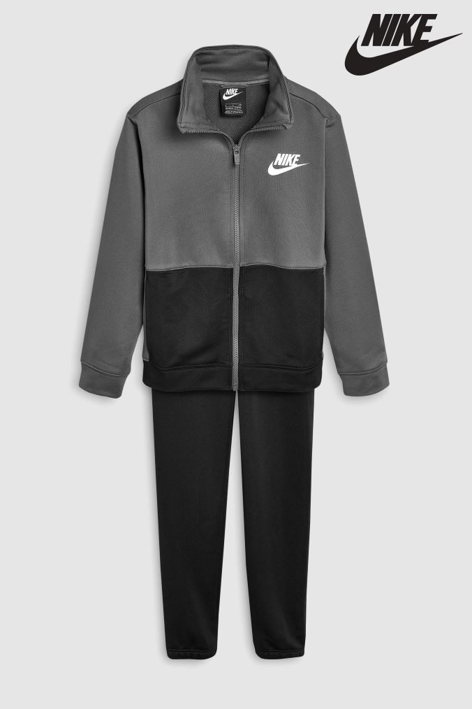 promo code 0d13b 0f4c5 Boys Nike Poly Tracksuit - Grey