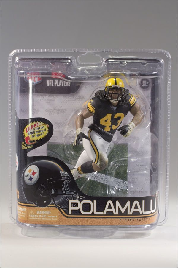 mcfarlane sports toys series 29 nfl troy polamalu steelers cl loose face mask troy polamalu action figures clamshell packaging pinterest
