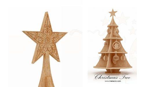 Lovely Christmas Tree (supermodel)   Christmas | MakeCNC.com · SupermodelsPuzzleChristmas  Trees