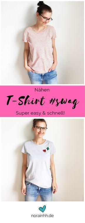 Tshirt Schnittmuster #swag | Nähen | Pinterest | Selbst genäht ...