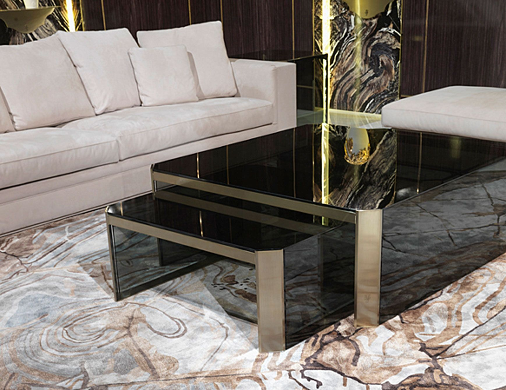 High End Glass Top Coffee Tables
