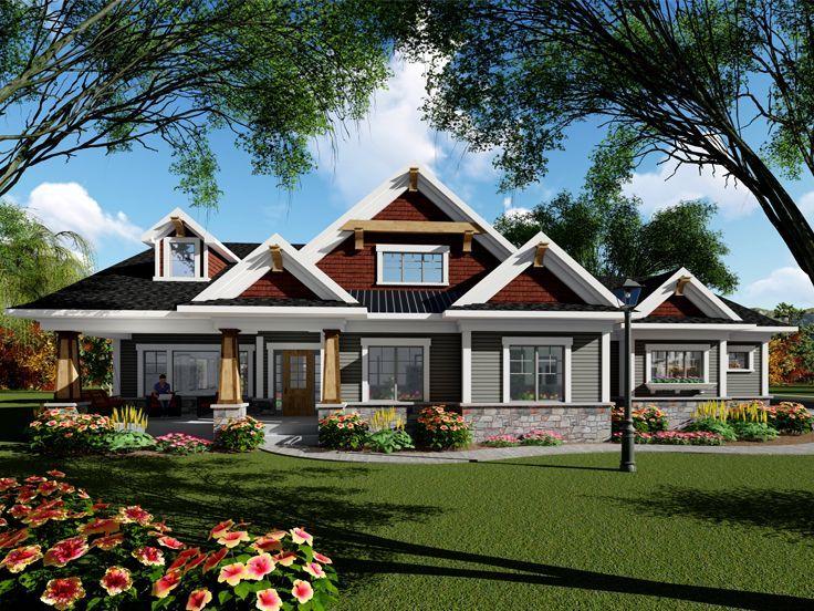 020H0440 Craftsman House Plan with SideEntry Garage