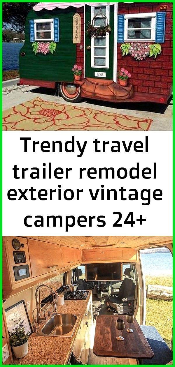 Trendy travel trailer remodel exterior vintage campers 24 ideas Trendy travel trailer remodel exter