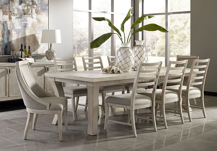 Panama Jack Graphite Rectangle Leg Dining Table Solid Wood