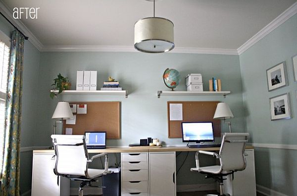 16 Home Office Desk Ideas For Two Home Office Design Contemporary Home Office Home Office Desks