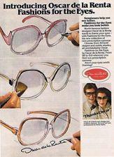 1978 Oscar De la Renta Sunglasses Vintage Ad