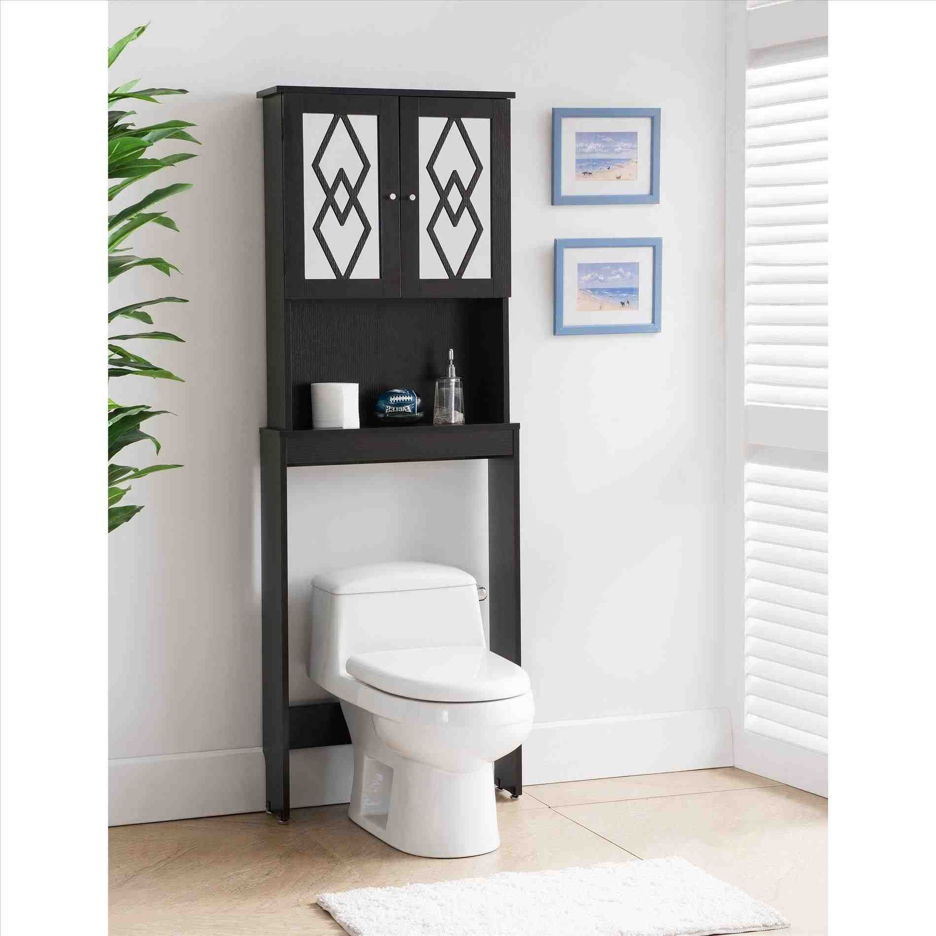 This modern over the toilet storage - image of: modern over the ...