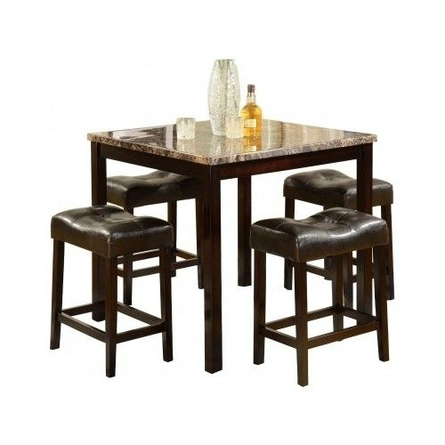 Shop For The Crown Mark Kinsey 5 Piece Counter Table Stool Set At Johnny Janosik