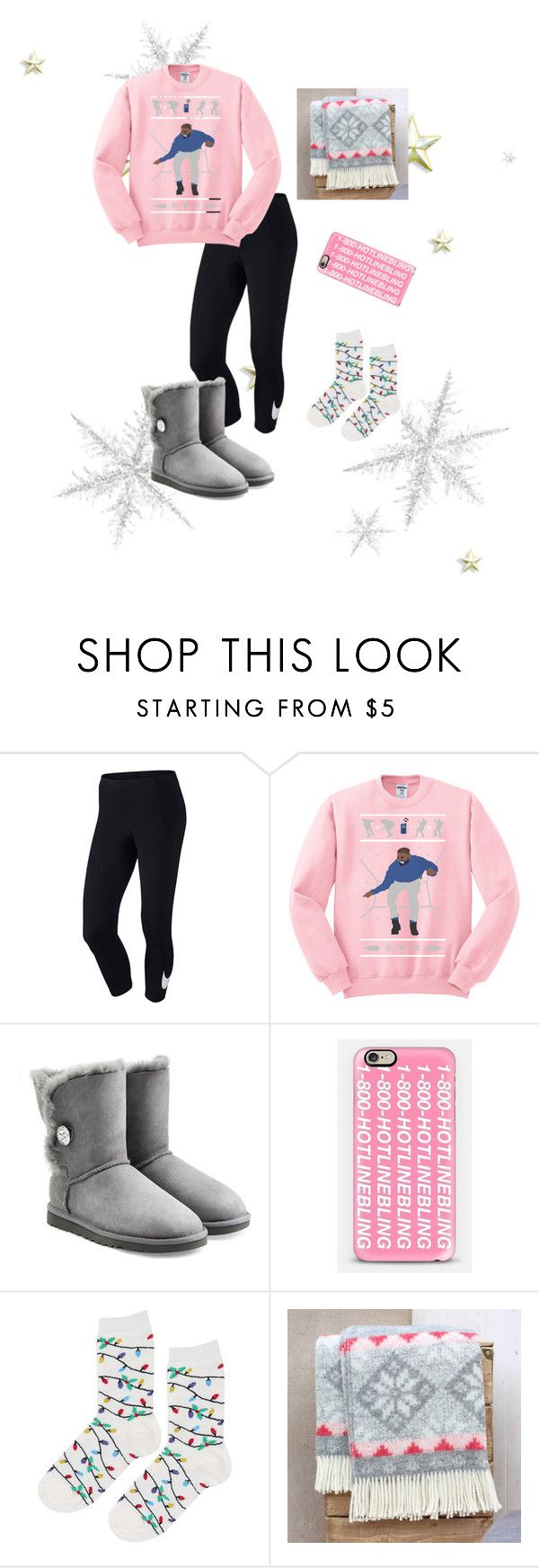 """""""Cozy!!❄️❄️"""" by taylorswift-411 ❤ liked on Polyvore featuring NIKE, UGG Australia, Casetify and Topshop"""