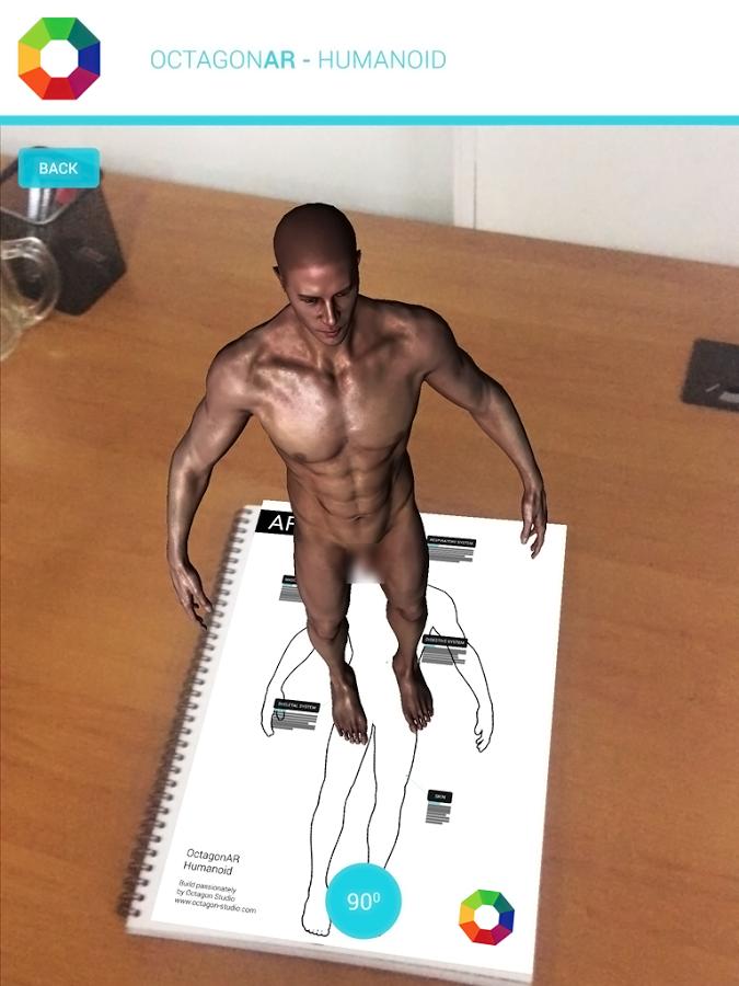 octagonar humanoid une application de r alit augment e pour d couvrir le corps humain. Black Bedroom Furniture Sets. Home Design Ideas