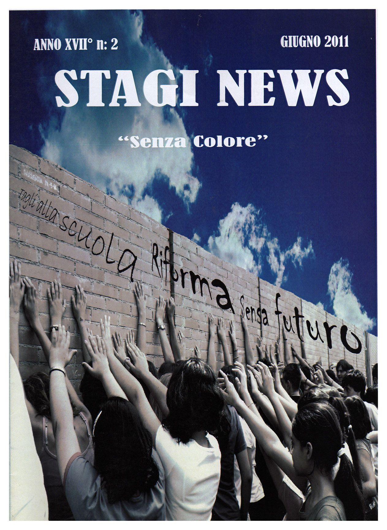 """""""Stagi News"""" - giornalino della Scuola media """"Stagio Stagi"""" di Pietrasanta, giugno 2011, anno XVII, n.2."""