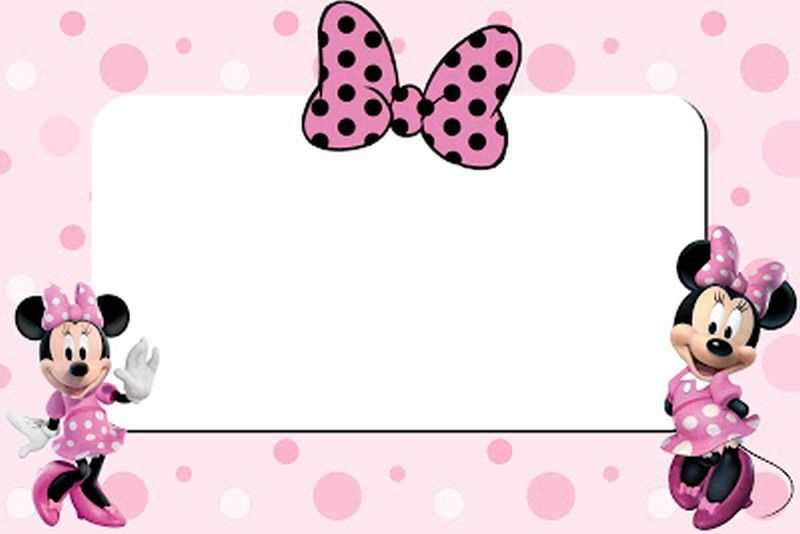 minnie mouse printable invitation card | free birthday party, Party invitations