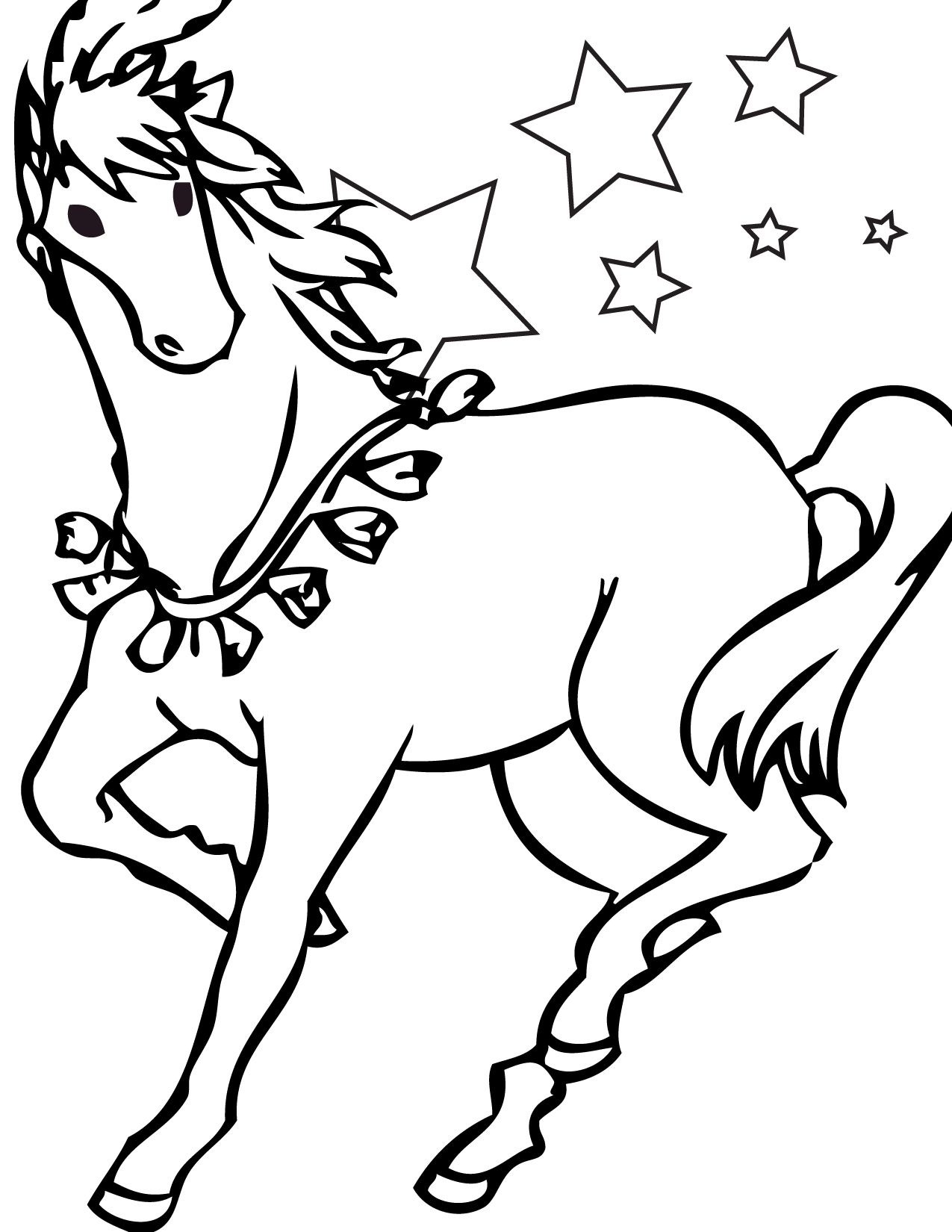 Printable pictures of horses print this page circus for Horse coloring pages printable free