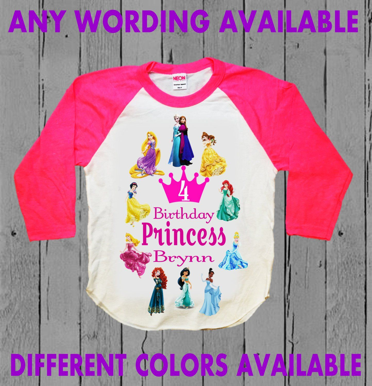 cb41f0a2 Disney Princess Birthday Shirt - Birthday Princess Shirt in 2019 ...