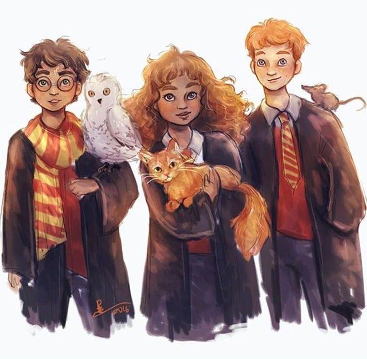 El mejor trio | Harry Potter Fan Art en 2019 | Pinterest ... Harry Potter Trio Fan Art