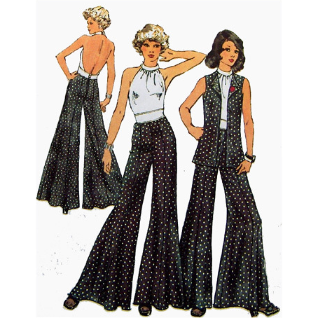 Palazzo Pants Backless Halter Top Vintage Sewing Pattern Simplicity from toinetterl on Ruby Lane