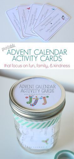 Printable Advent Calendar Activity Cards - Mama.Papa.Bubba.