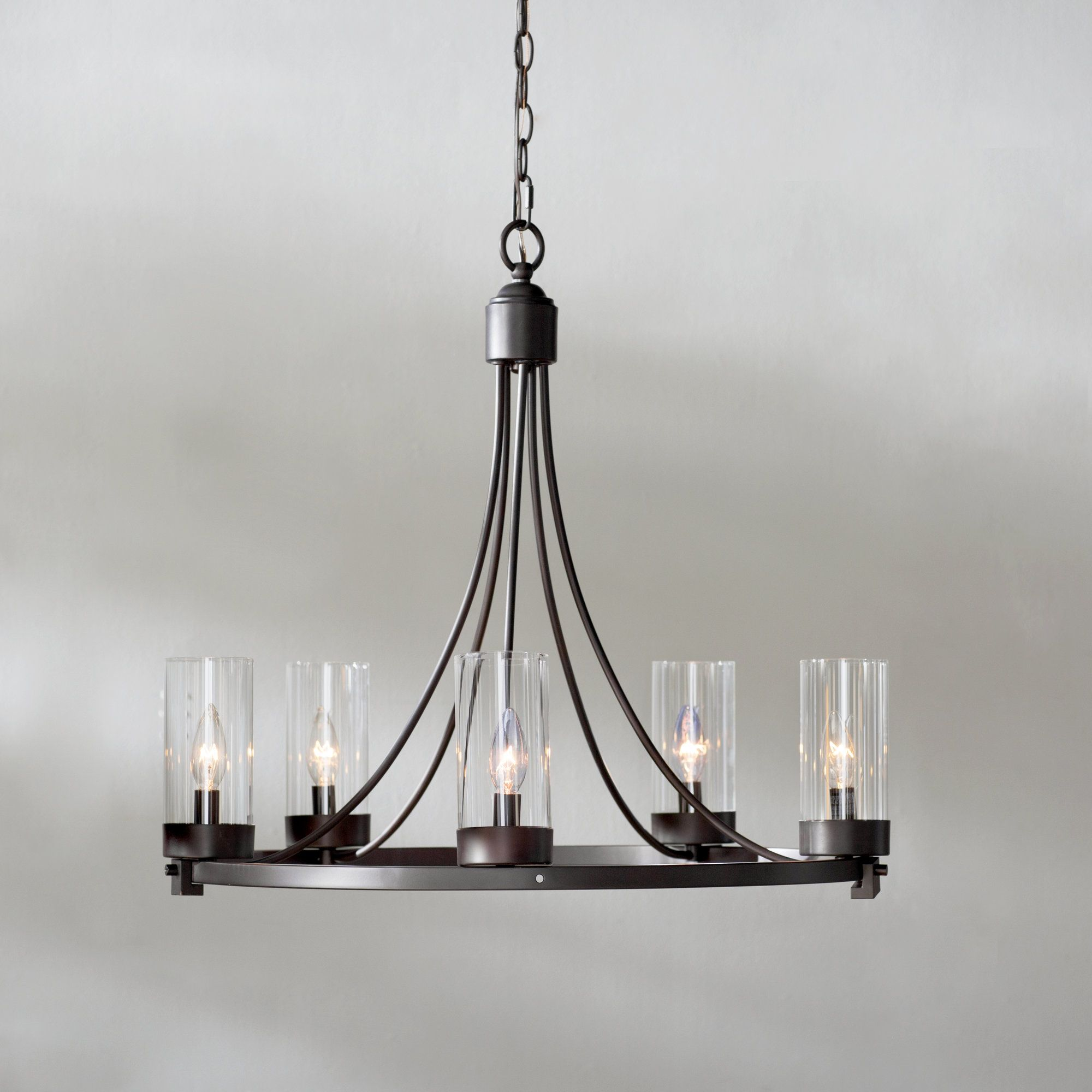Levan 5 Light Candle Style Chandelier