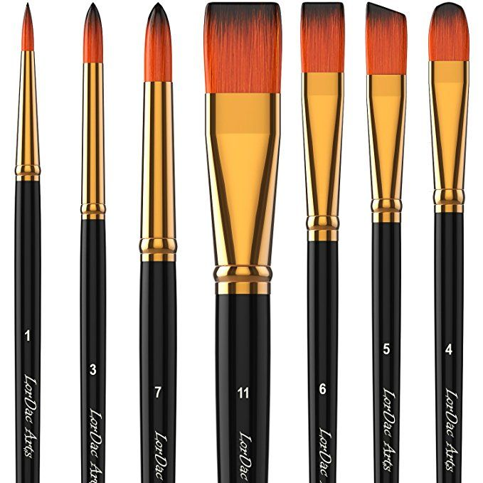 5pc Professional Painting Brushes Set Acrylic Oil Watercolor Paint Brush Drawing
