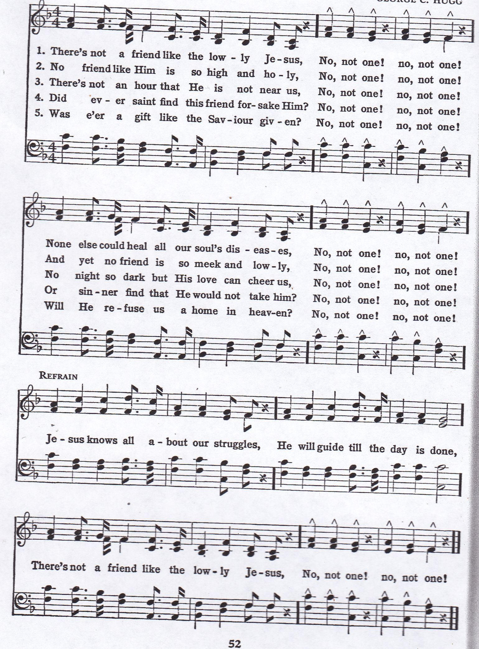 There S Not A Friend Like Lowly Jesus Hymn Satb Hymn