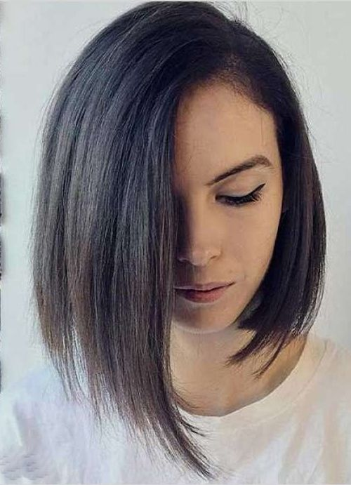 Easy And Trendy Angled Bob Hairstyles 2019 Hair Styles Straight Hairstyles Thick Hair Styles