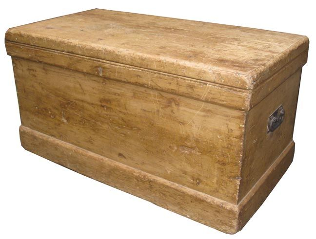 Attractive Wooden Trunks | An Antique, Rustic Wooden Trunk Thatu0027s So Bleached By Time  And Age
