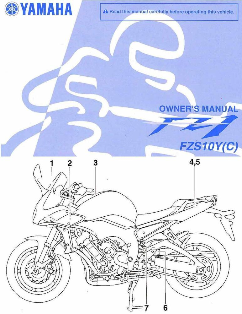 eBay #Sponsored 2009 YAMAHA FZ1 FAZER MOTORCYCLE OWNERS MANUAL -FZS