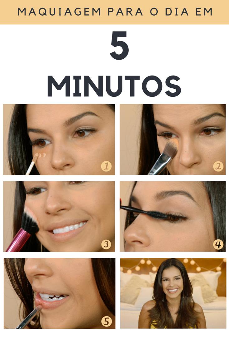 ab0b86fd09a66 Veja o passo a passo no vídeo que mostra uma maquiagem fácil e prática em  menos de cinco minutos